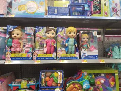 Baby Alive Dolls on Store Shelf