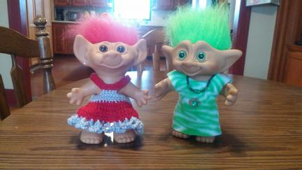 Troll Dolls Valentines and St. Pats Day