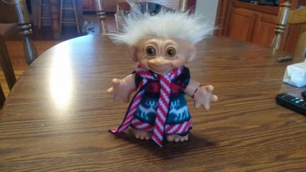 Troll Doll Christmas Dress