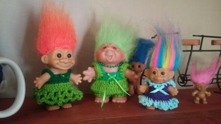 Troll Dolls 2 St Pats and an Easter