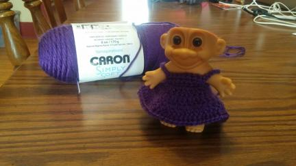 Troll Doll Crocheted Dress Pattern DIY